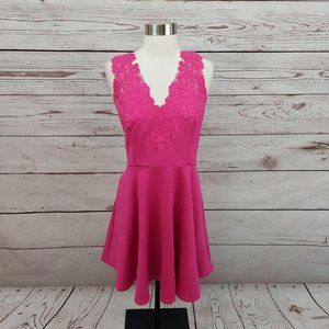 Ted Baker Taliia Embroidered Skater Dress Pink 8